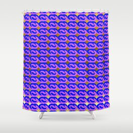 Modius Loop Blue/Lavender on Gold Shower Curtain