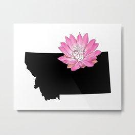 Montana Silhouette Metal Print