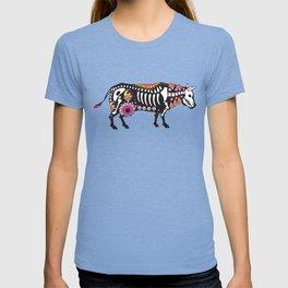 Sugar Skull Cow Floral Halloween Heifer T-shirt