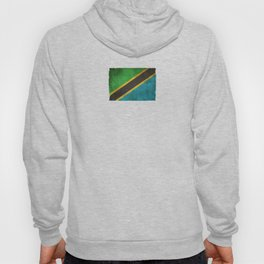 Old and Worn Distressed Vintage Flag of Tanzania Hoody