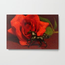 Still Life In Black And Red Metal Print
