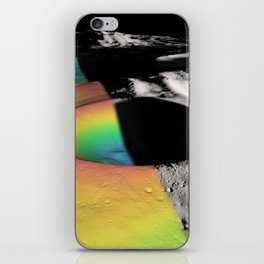 Rainbow Moon Craters iPhone Skin
