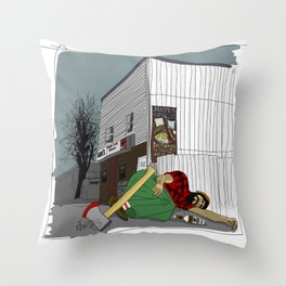 """I'm not wakin' him"" by a.correia Throw Pillow"
