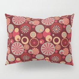 Circle Frenzy - Red Pillow Sham