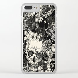 SKULLS HALLOWEEN SKULL Clear iPhone Case