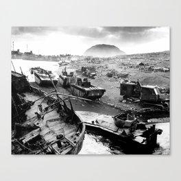 Iwo Jima Beach Painting Canvas Print