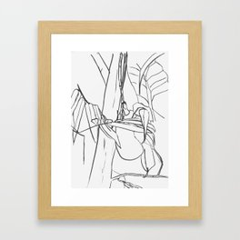 Hand Drawn Tropical Fruit Line Art Framed Art Print
