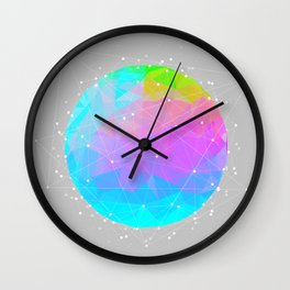 The Dots Will Somehow Connect (Geometric Sphere) Wall Clock
