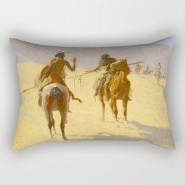 "Frederic Remington Western Art ""The Parley"" Rectangular Pillow"