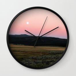Sagebrush Sunset Wall Clock