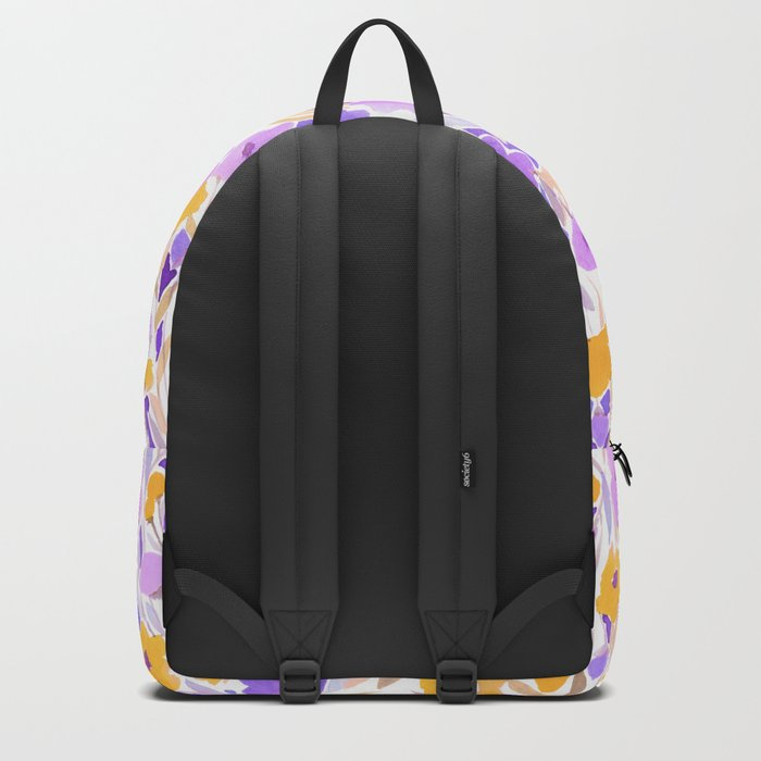 Flower Field Yellow Lilac Backpack