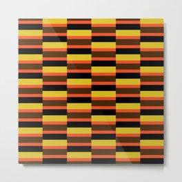 Geometric Pattern #118 (orange brown stripes) Metal Print