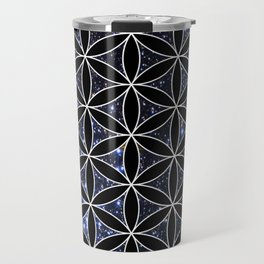 Flower of life in the space Travel Mug