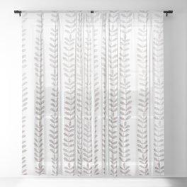 Silver leaf trellis Sheer Curtain