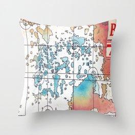 """""""B7″ Multiverse Map #3 Throw Pillow"""