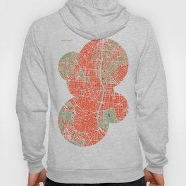 Madrid city map classic Hoody