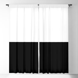 Just Black and White Blackout Curtain