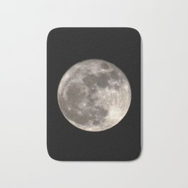 Can you see the man in the Moon smiling at us? Bath Mat