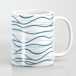 Seapattern. Hand drawn waves Coffee Mug