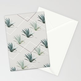 Succulents with Chevrons Stationery Cards