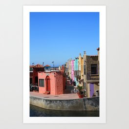 Colorful Capitola Houses Art Print