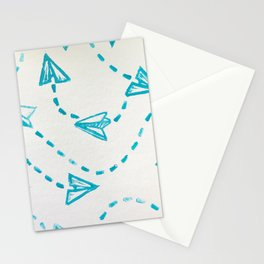 Paper Plane Print Stationery Cards