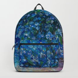 Bouquet Of Forget Me Nots by Lena Owens Backpack