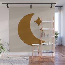 Moon & Stars - Desert Orange Wall Mural