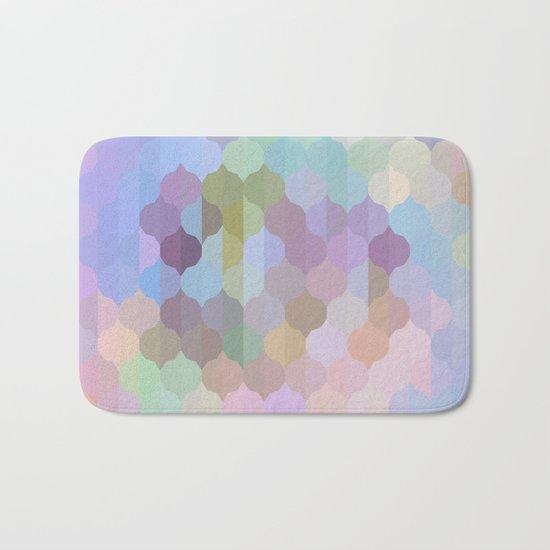 Pastel Geometric Abstract Bath Mat