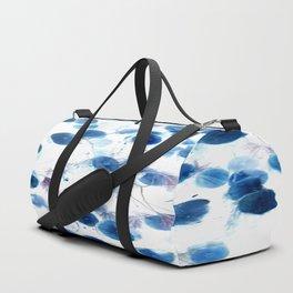 Climbing in Blue Duffle Bag