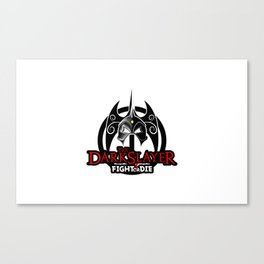 The Darkslayer Logo, Fight or Die, Red Canvas Print