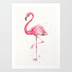 A Flamingos Fancy Art Print
