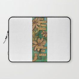 Be Filled with Wonder, Be touched by Peace Laptop Sleeve