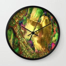Nude mermaid & jelly fish ladykashmir Wall Clock