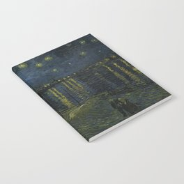 Starry Night Over the Rhone by Vincent van Gogh Notebook