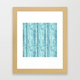 Braided in Teal Framed Art Print