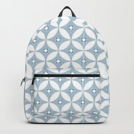 Gray circle Mid Century design , grey textures Backpack