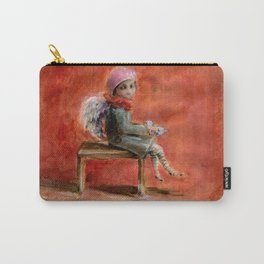Little Angel in Red Carry-All Pouch