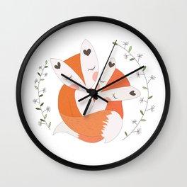 Fox wall art Wall Clock