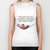 ohana Biker Tanks featuring Ohana by Dani Aviles