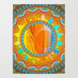 Moon and Sun Mandala Design Poster