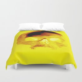Yellow Skull Duvet Cover