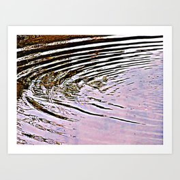 Pink Sky Reflected in Ripples Art Print