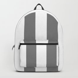 Vertical Stripes - White and Gray Backpack