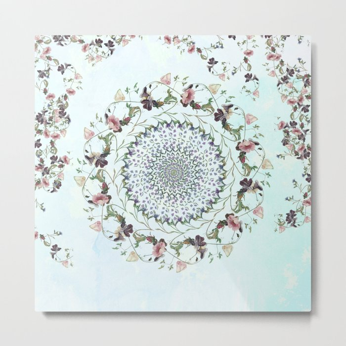 Floral fervour Metal Print