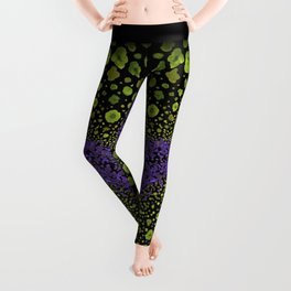 Paths of Color [green & purple] Leggings