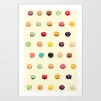 macaron Art Prints featuring Macaron Fest by Electric Avenue