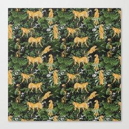 Cheetah in the wild jungle Canvas Print