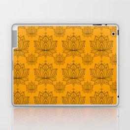 Lotus Mandala Doodle Pattern Orange Laptop & iPad Skin