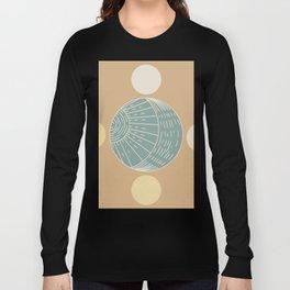 Bohemian Moon - Mid Century Modern Circles Long Sleeve T-shirt